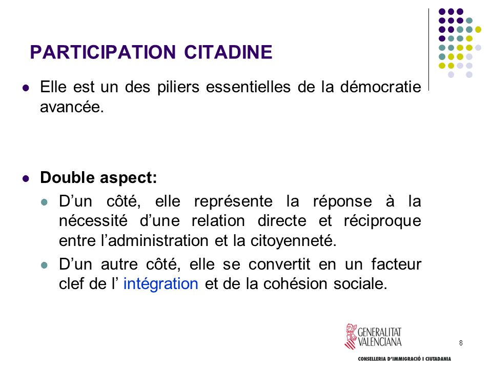 PARTICIPATION CITADINE