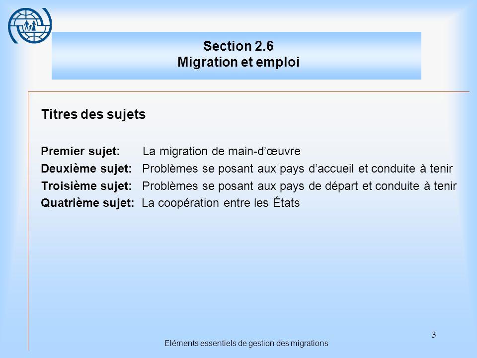 Section 2.6 Migration et emploi