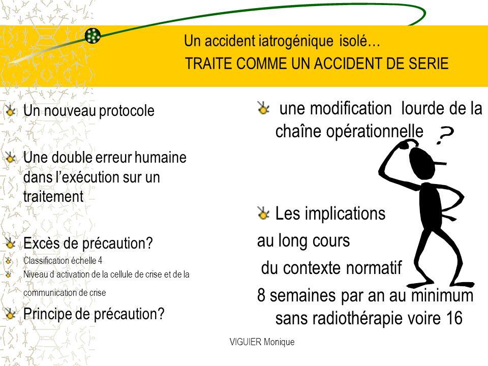 Un accident iatrogénique isolé… TRAITE COMME UN ACCIDENT DE SERIE