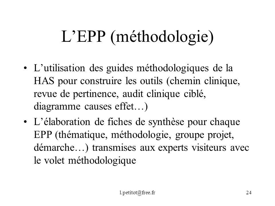 L'EPP (méthodologie)
