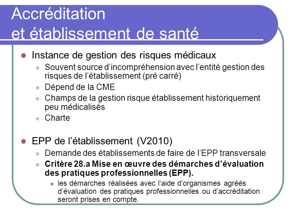 Accréditation et établissement de santé