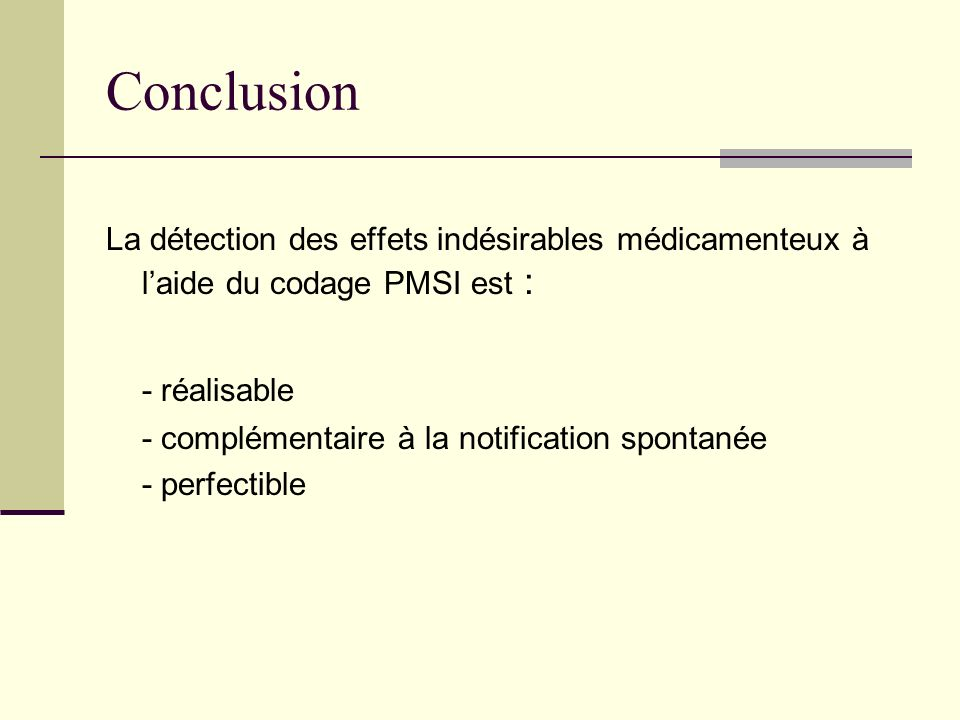 Conclusion - réalisable
