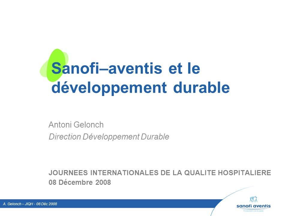 Sanofi–aventis et le développement durable