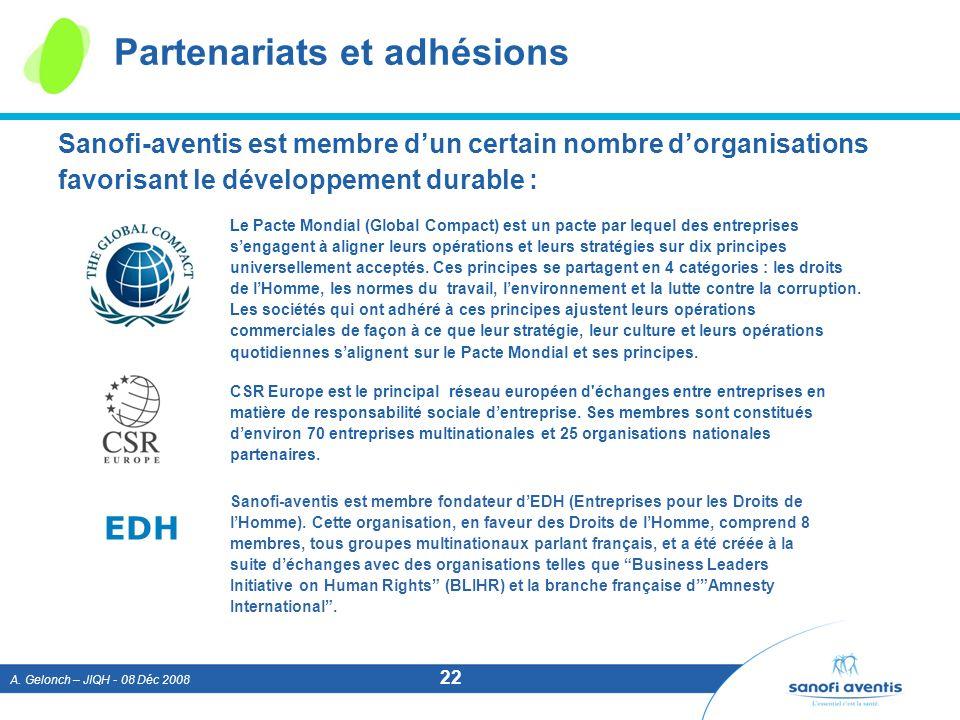 Partenariats et adhésions