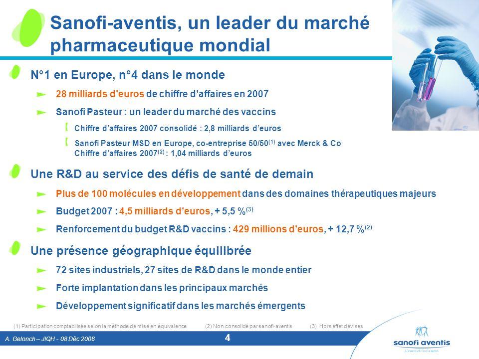 Sanofi-aventis, un leader du marché pharmaceutique mondial