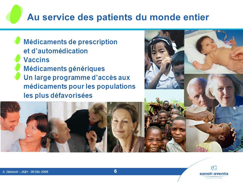 Au service des patients du monde entier