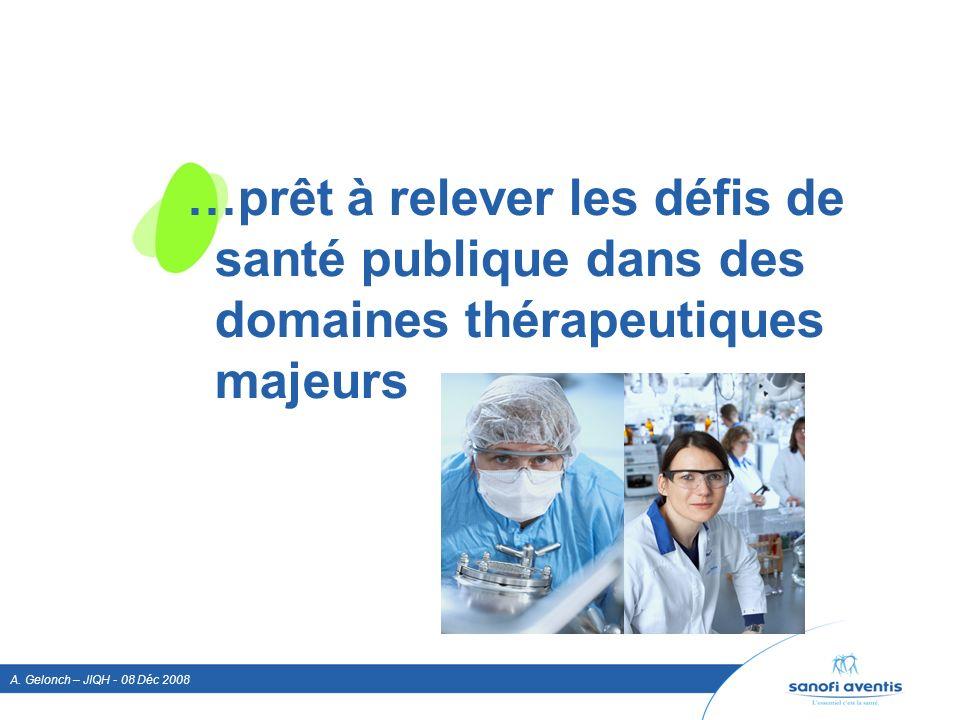 …prêt à relever les défis de santé publique dans des domaines thérapeutiques majeurs