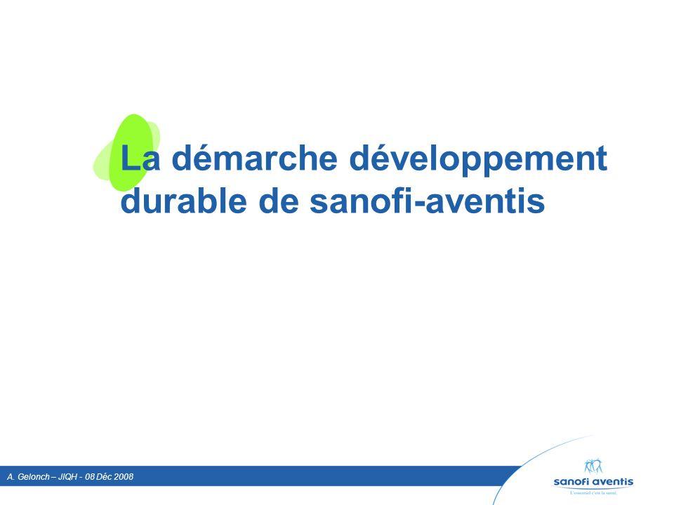 La démarche développement durable de sanofi-aventis