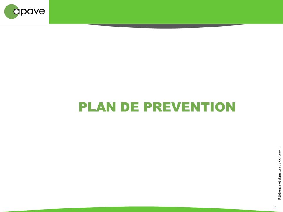 PLAN DE PREVENTION