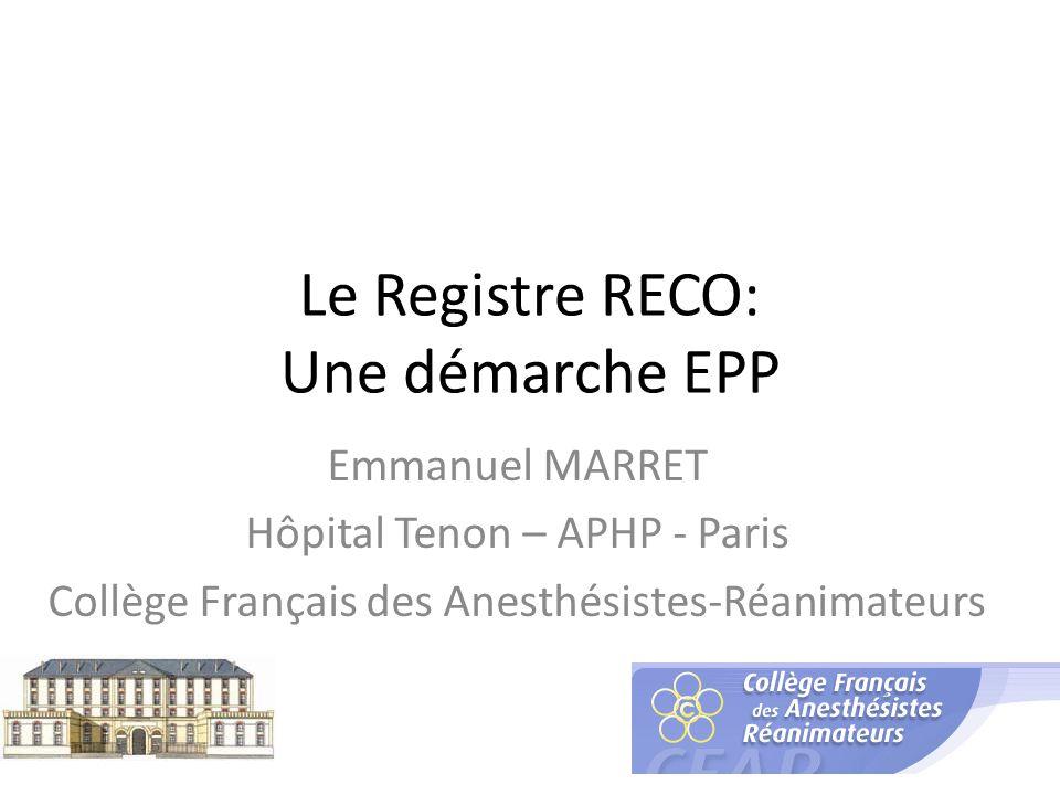 Le Registre RECO: Une démarche EPP