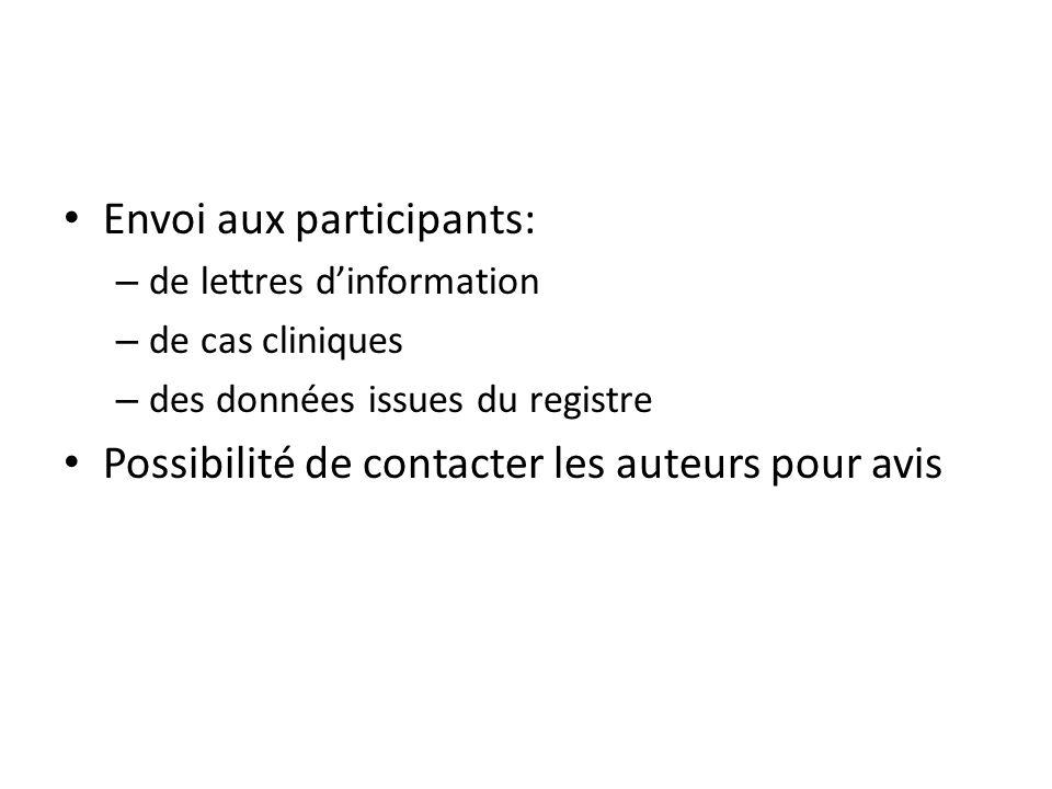 Envoi aux participants: