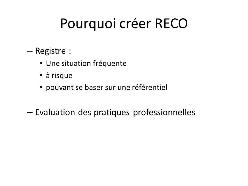 Pourquoi créer RECO Registre :