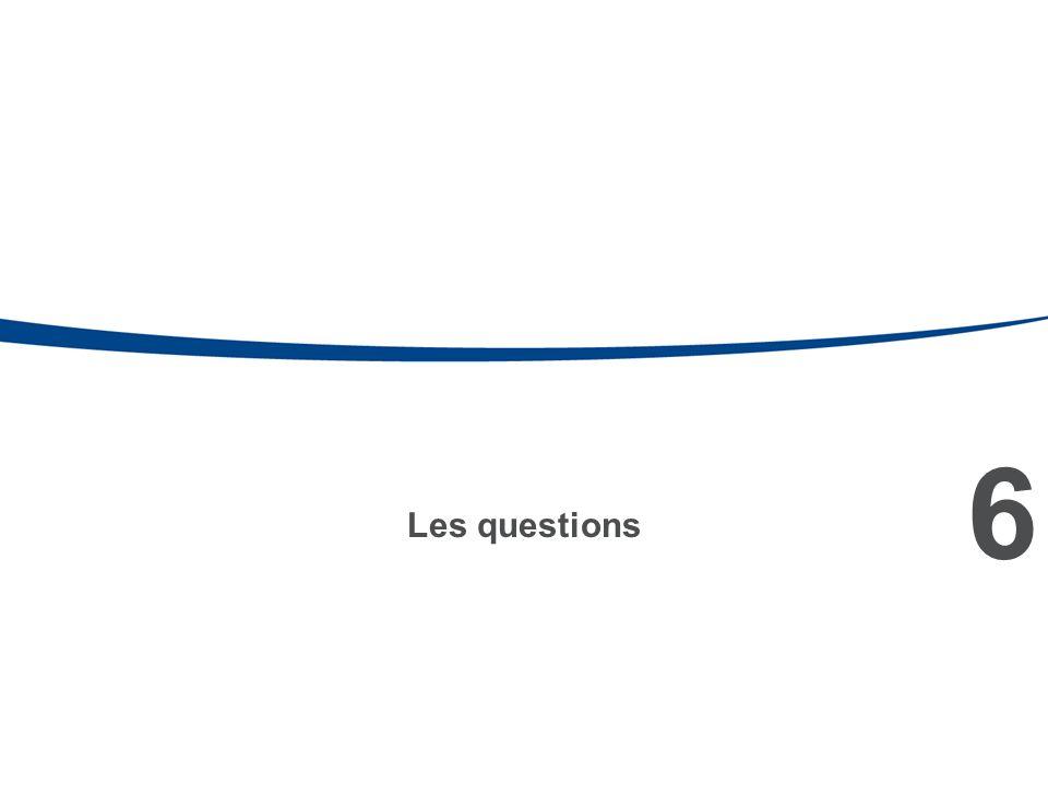6 Les questions