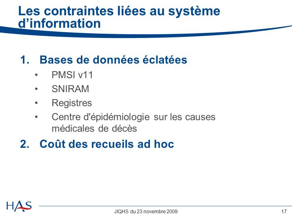 Les contraintes liées au système d'information