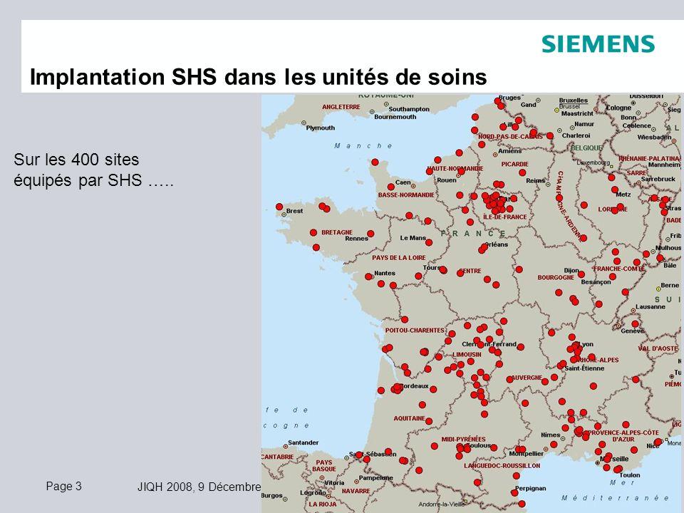 Implantation SHS dans les unités de soins