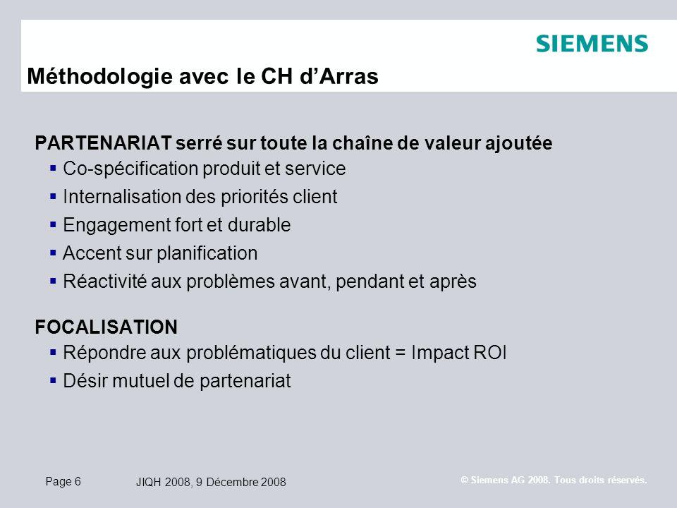 Méthodologie avec le CH d'Arras