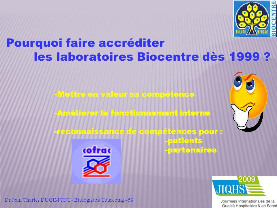 Pourquoi faire accréditer les laboratoires Biocentre dès 1999