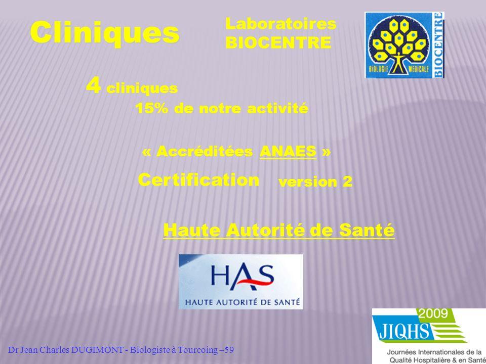 Cliniques 4 cliniques Certification Haute Autorité de Santé