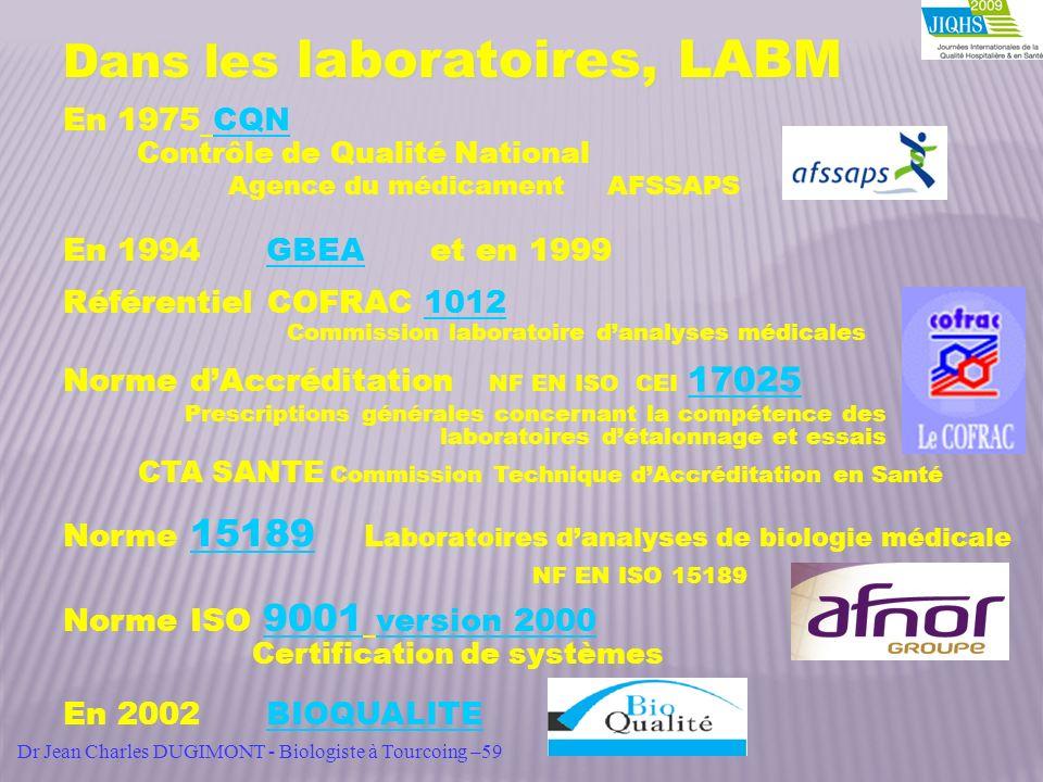 Dans les laboratoires, LABM