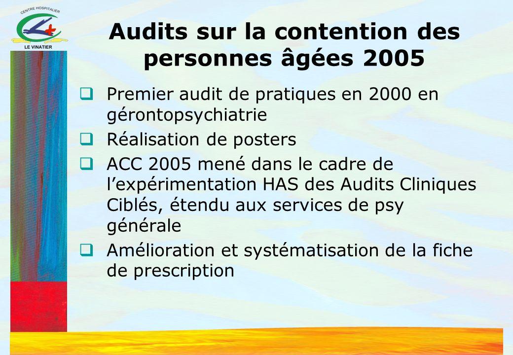 Audits sur la contention des personnes âgées 2005