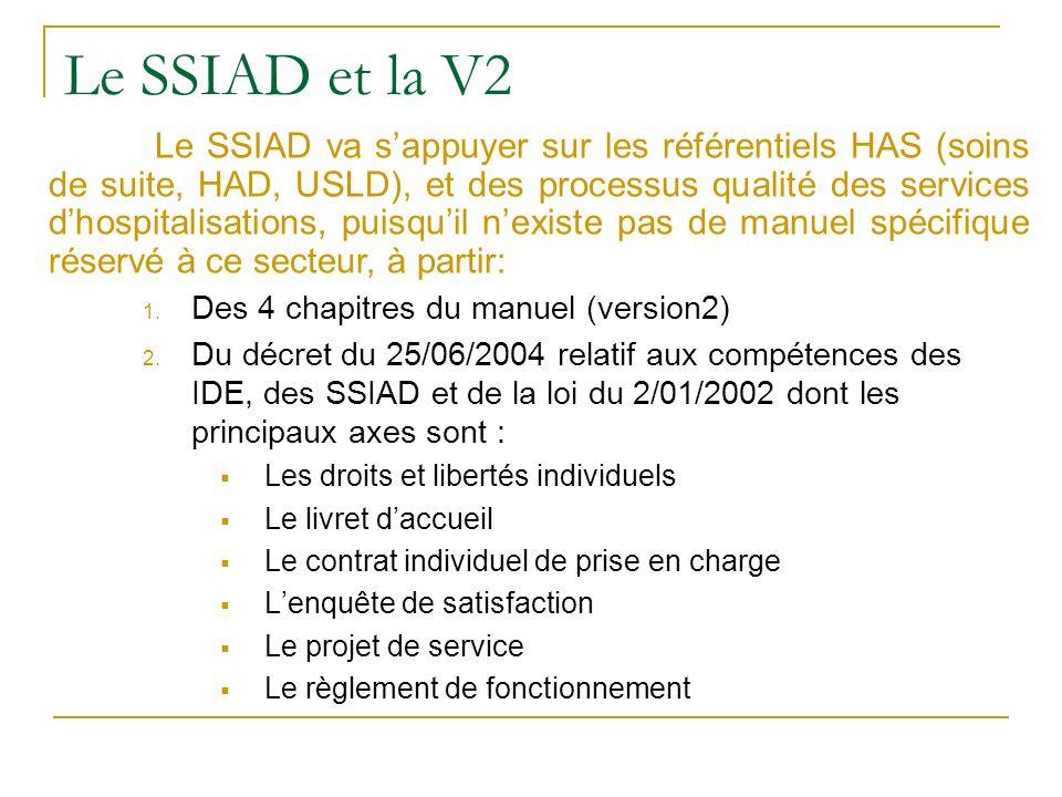 Le SSIAD et la V2