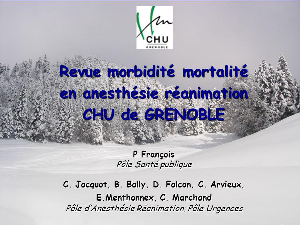 Revue morbidité mortalité en anesthésie réanimation CHU de GRENOBLE