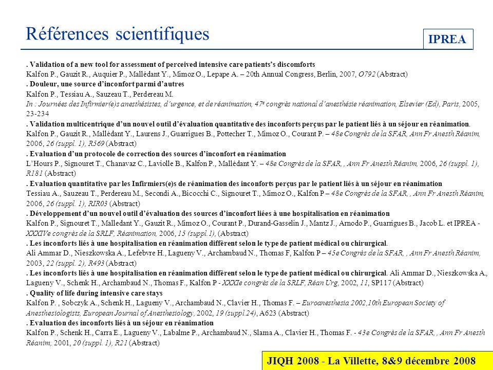 Références scientifiques