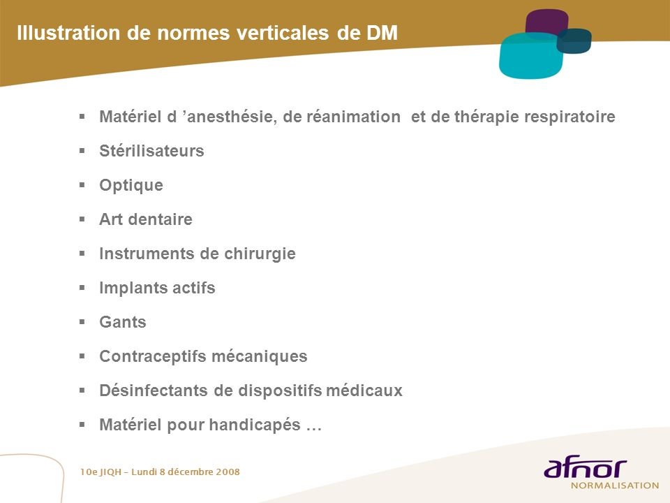 Illustration de normes verticales de DM