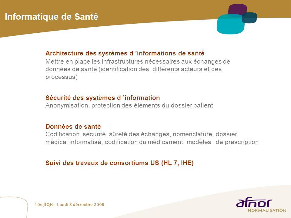 Informatique de Santé Architecture des systèmes d 'informations de santé.