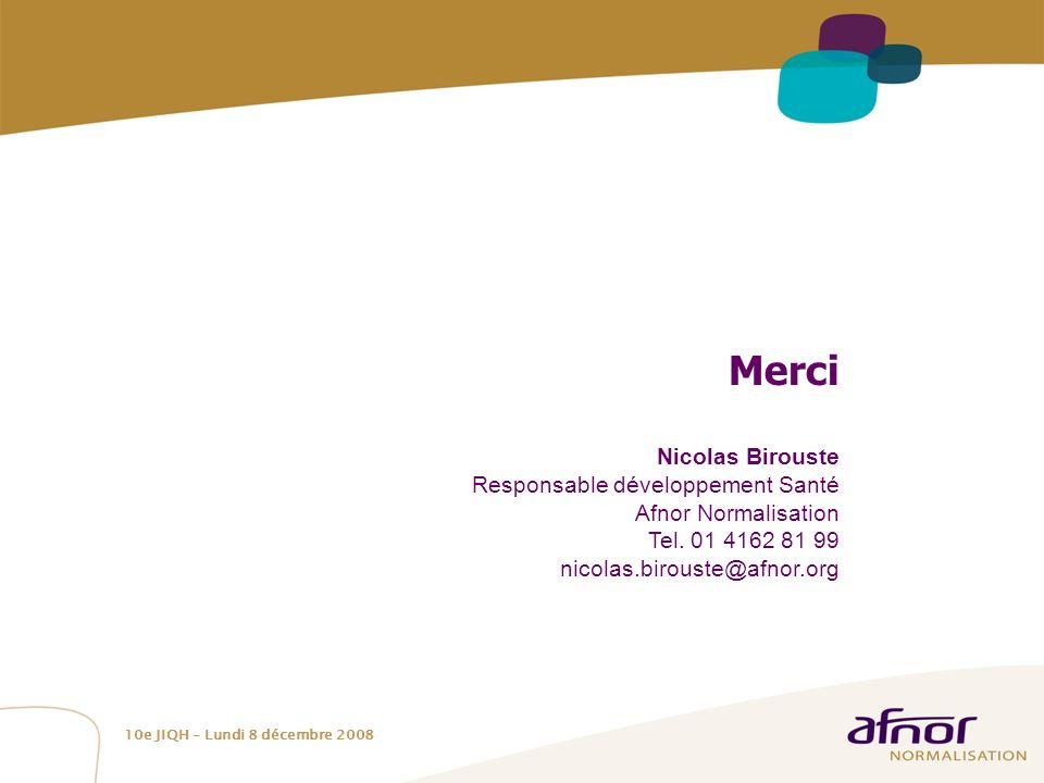Merci Nicolas Birouste Responsable développement Santé