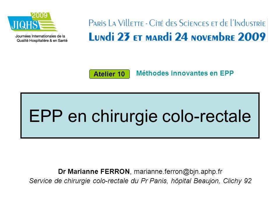 EPP en chirurgie colo-rectale