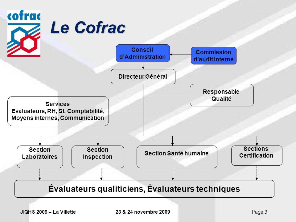 Le Cofrac Évaluateurs qualiticiens, Évaluateurs techniques Conseil