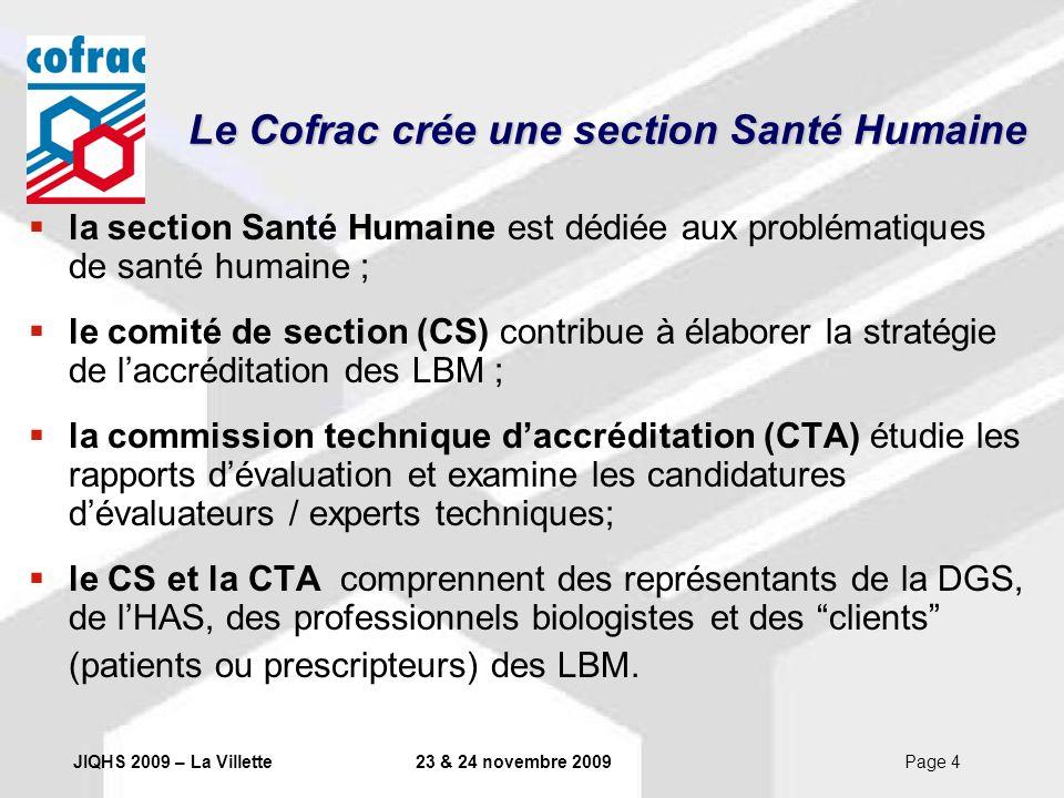 Le Cofrac crée une section Santé Humaine