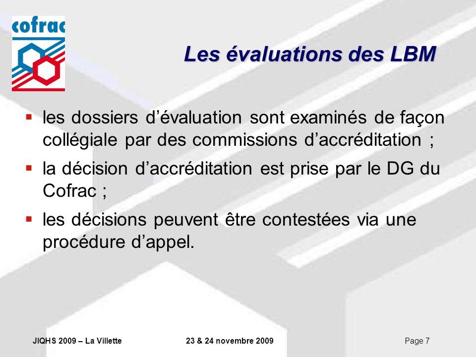Les évaluations des LBM