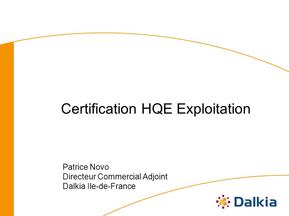 Certification HQE Exploitation