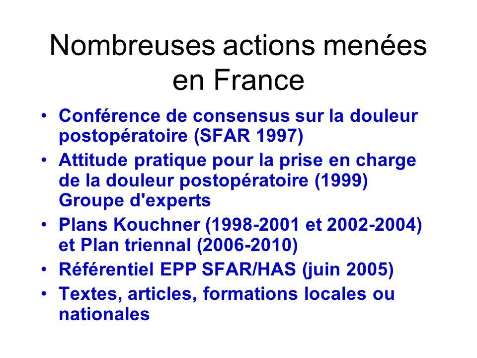Nombreuses actions menées en France