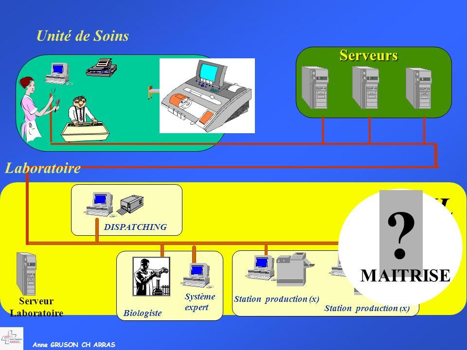 SIL MAITRISE Unité de Soins Serveurs Laboratoire Serveur Laboratoire