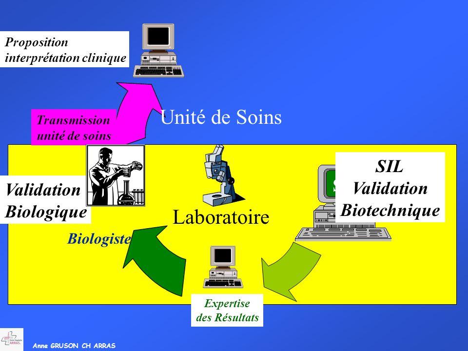 SIL Unité de Soins Laboratoire SIL Validation SC Biotechnique
