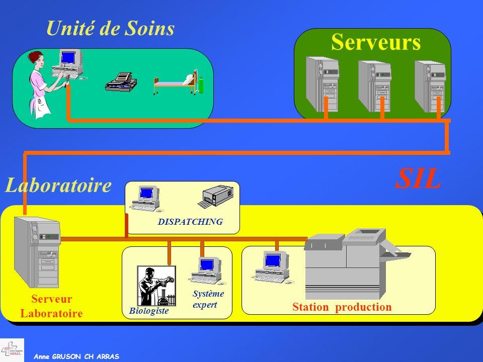 SIL Serveurs Unité de Soins Laboratoire Serveur Laboratoire