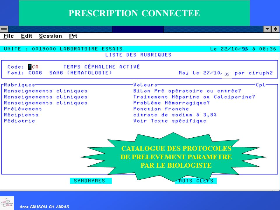 PRESCRIPTION CONNECTEE
