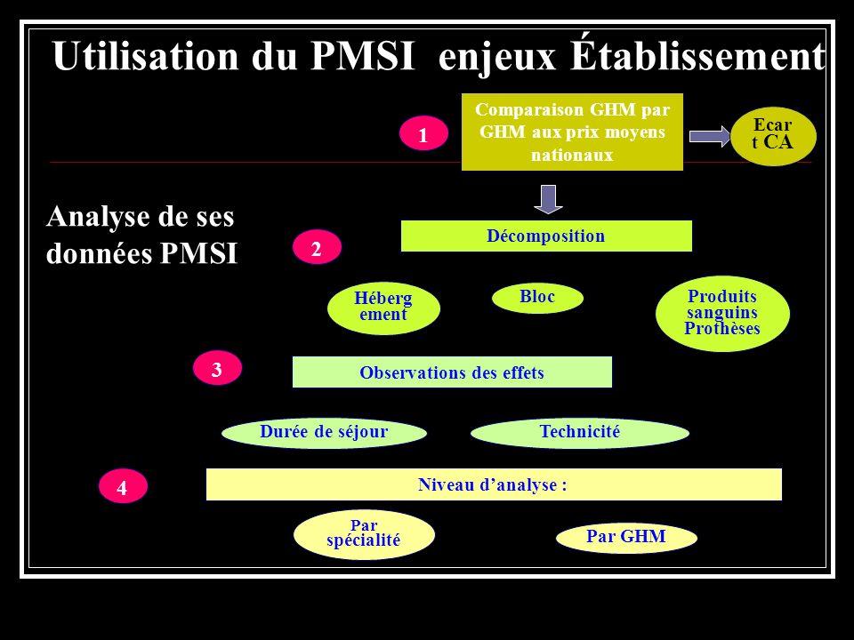 Utilisation du PMSI enjeux Établissement