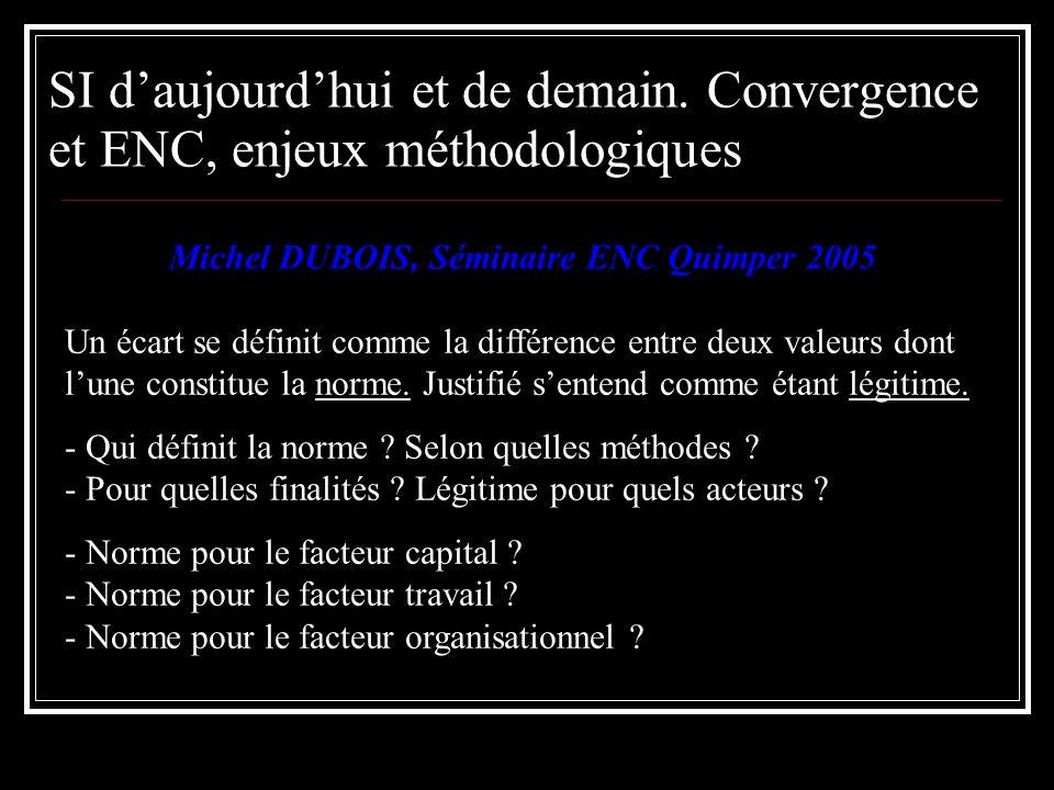 Michel DUBOIS, Séminaire ENC Quimper 2005