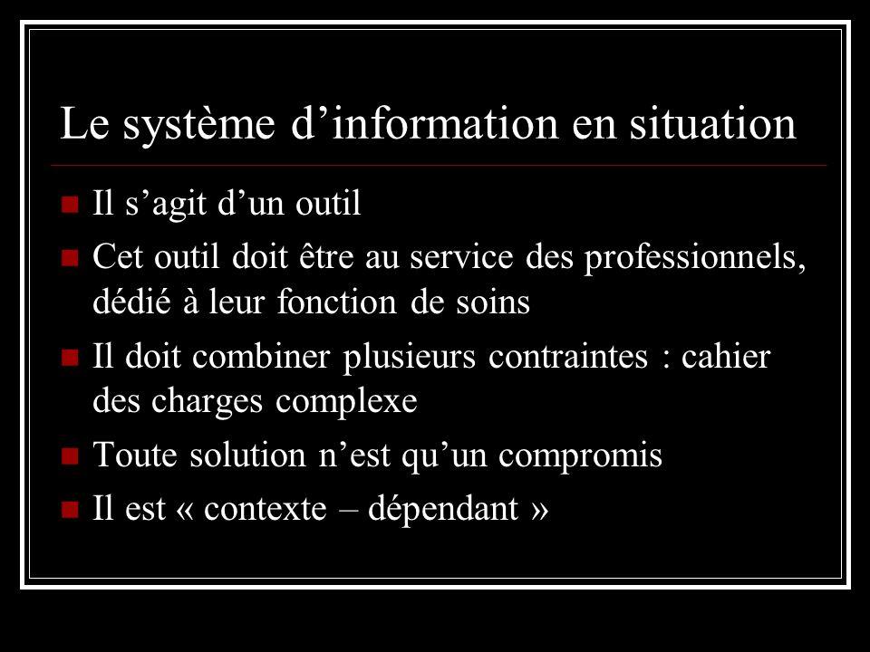 Le système d'information en situation
