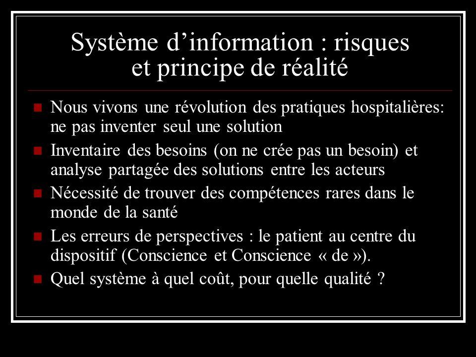 Système d'information : risques et principe de réalité
