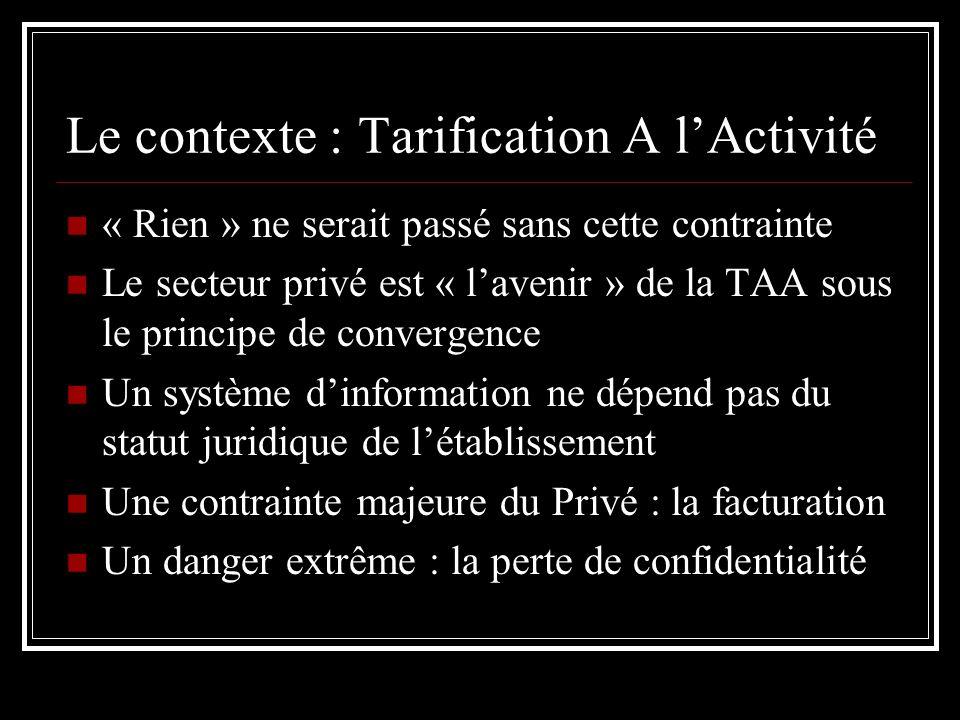 Le contexte : Tarification A l'Activité