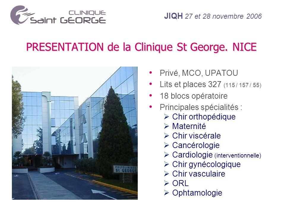 PRESENTATION de la Clinique St George. NICE