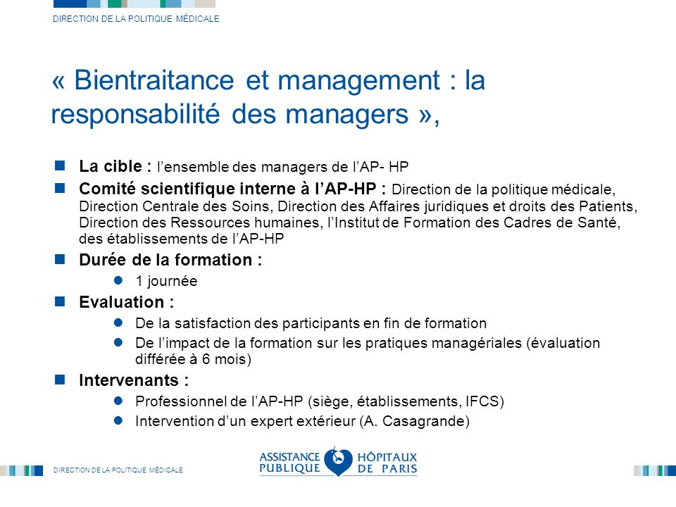 « Bientraitance et management : la responsabilité des managers »,