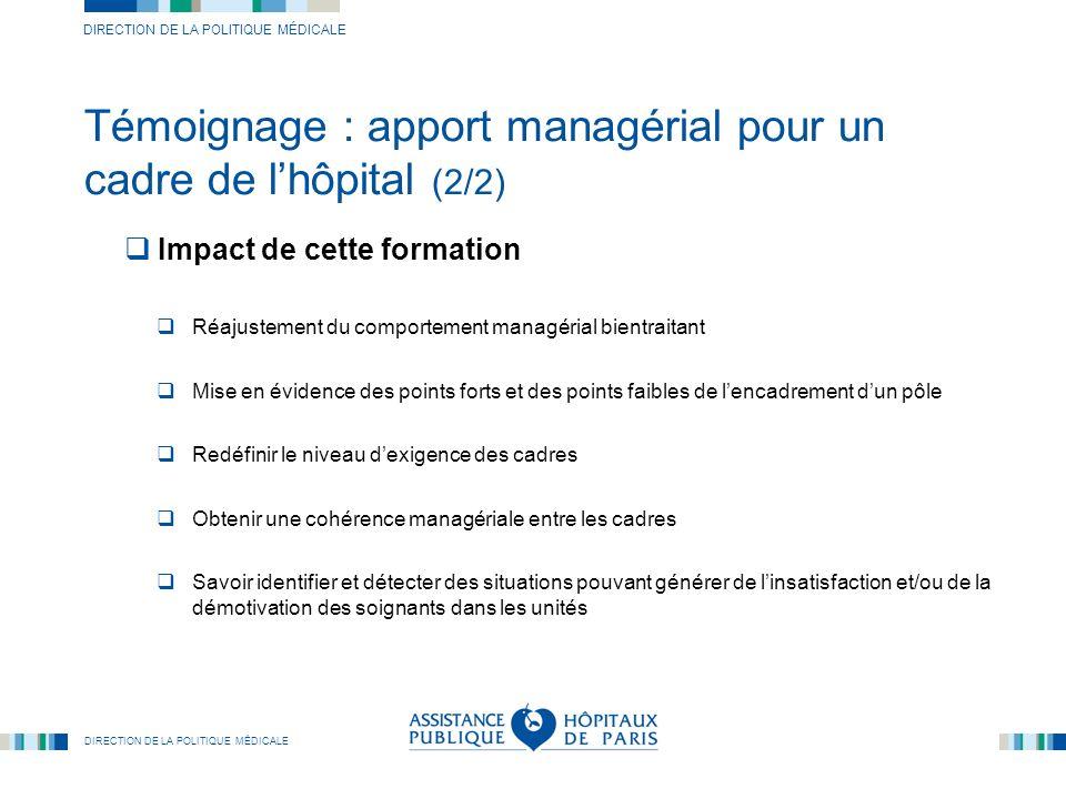 Témoignage : apport managérial pour un cadre de l'hôpital (2/2)