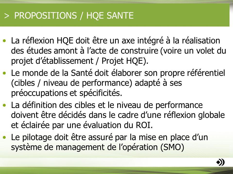 PROPOSITIONS / HQE SANTE