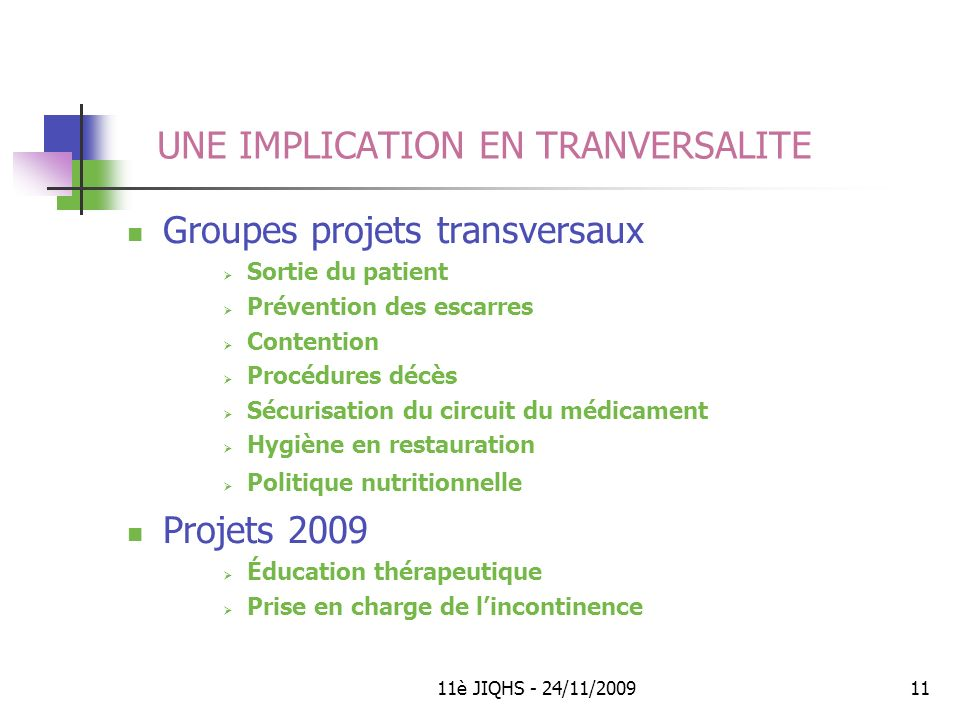 UNE IMPLICATION EN TRANVERSALITE